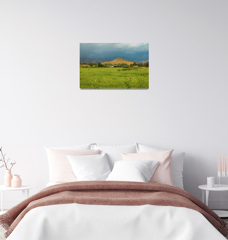 """""""Summer View of  Hay Stack Mountain""""  (2017) by lightningman"""