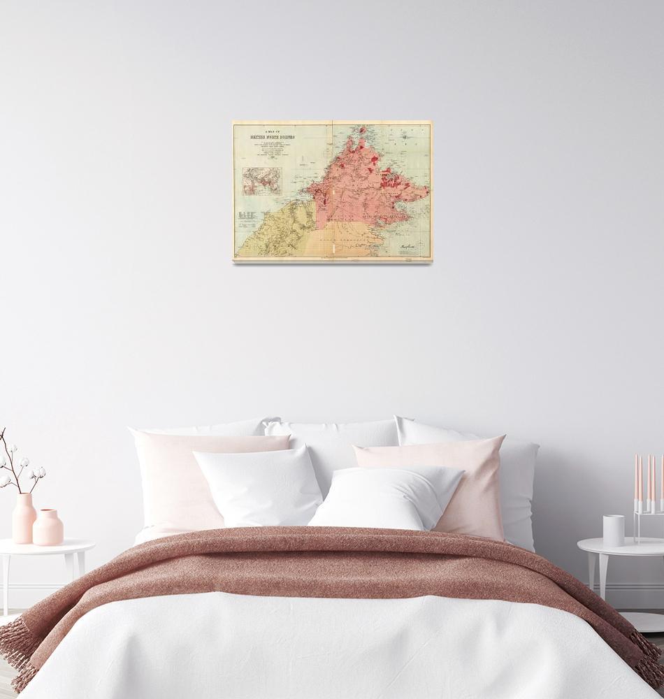 """Map of British North Borneo (1899)""  by ArtHistory"