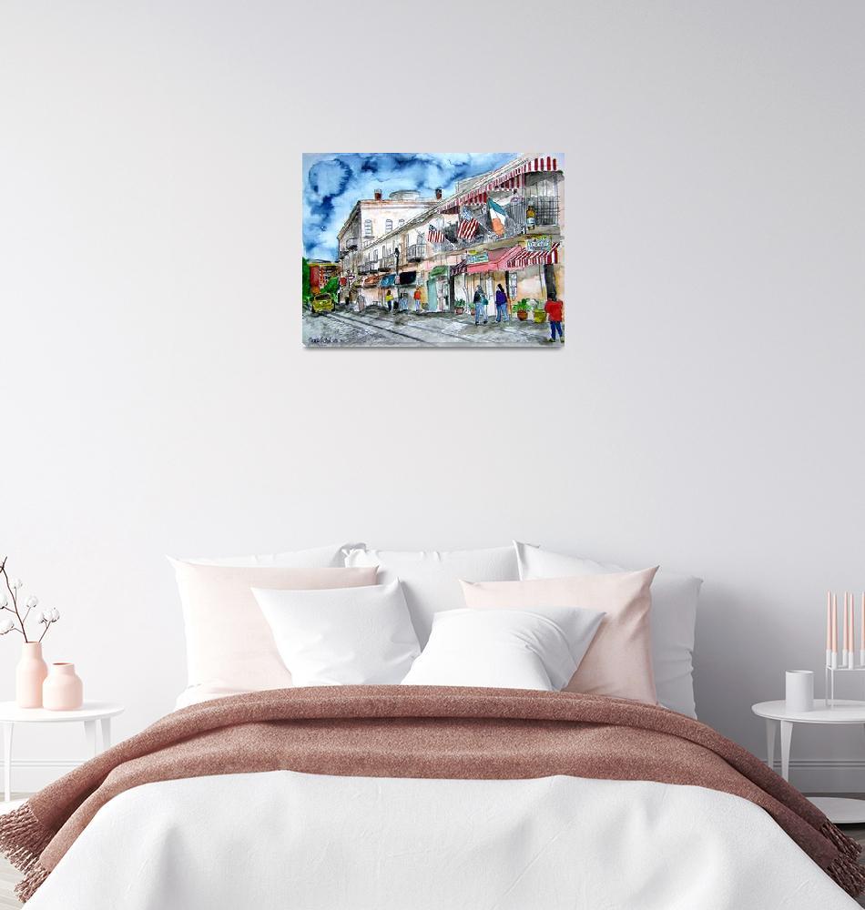 """savannah river street painting""  (2008) by derekmccrea"