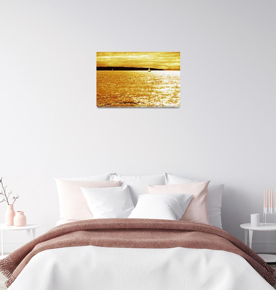 """Sunset Sailing""  (2009) by Sari_McNamee"