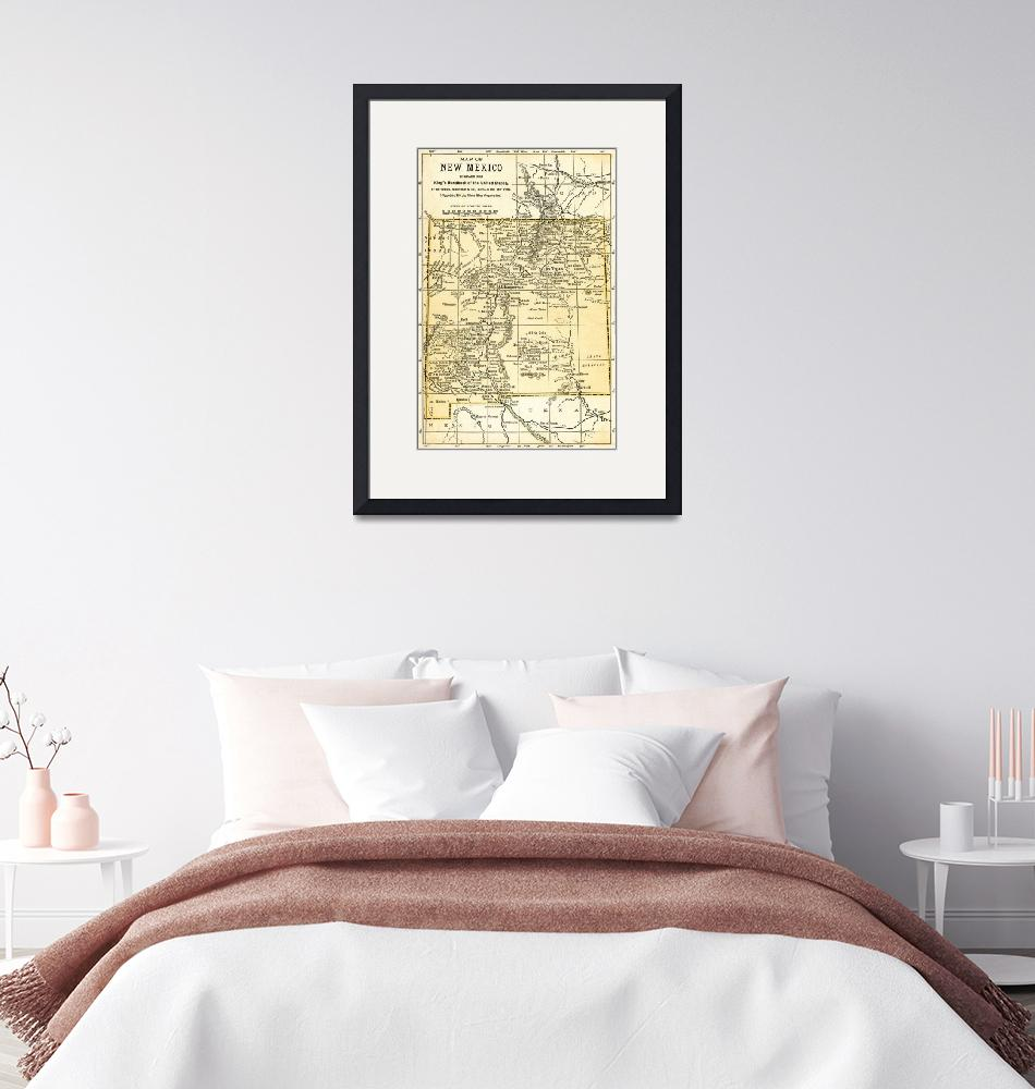 """New Mexico Territory Antique Map 1891""  (2016) by WilshireImages"