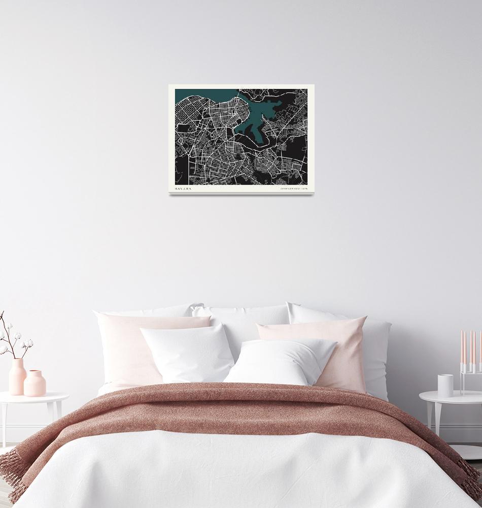 """City of Havana Map""  by mark-rogan"