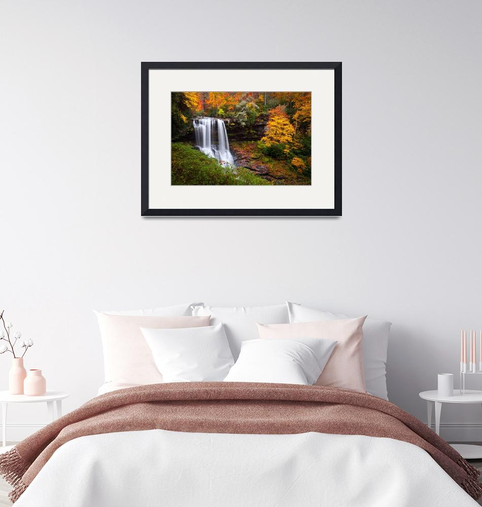 """""""Autumn at Dry Falls - Highlands NC Waterfalls""""  (2011) by DAPhoto"""
