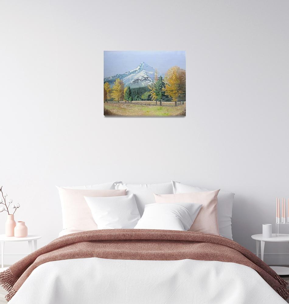 """Landscape Painting Mount Hood""  (2020) by TetraultArtStudio"