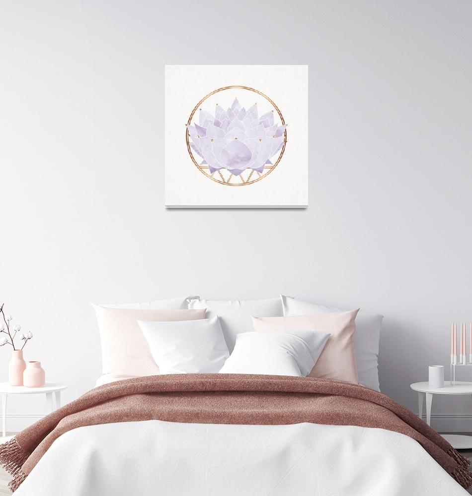 """Lavender Zen Lotus""  (2018) by moderntropical"