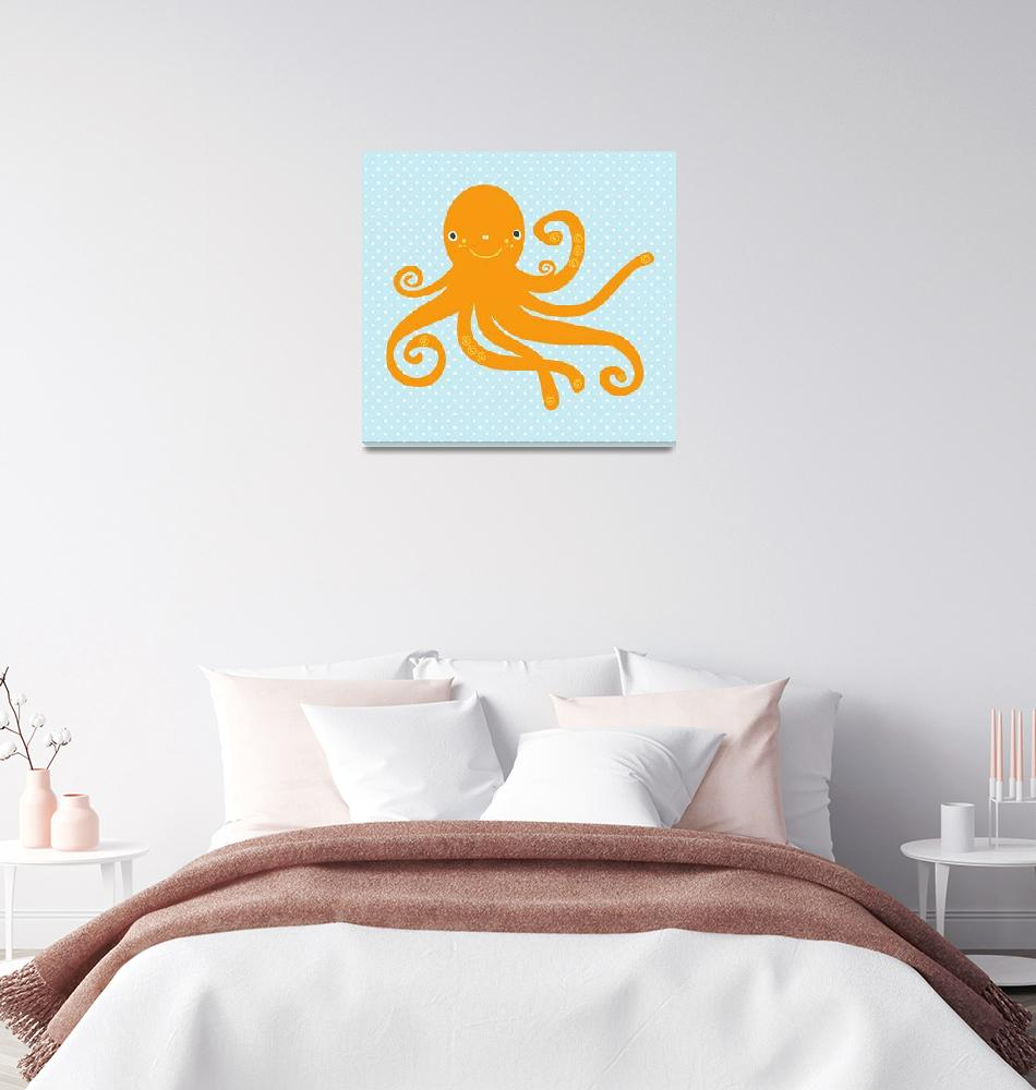 """""""Octopus (blue)""""  by littlebubbies"""