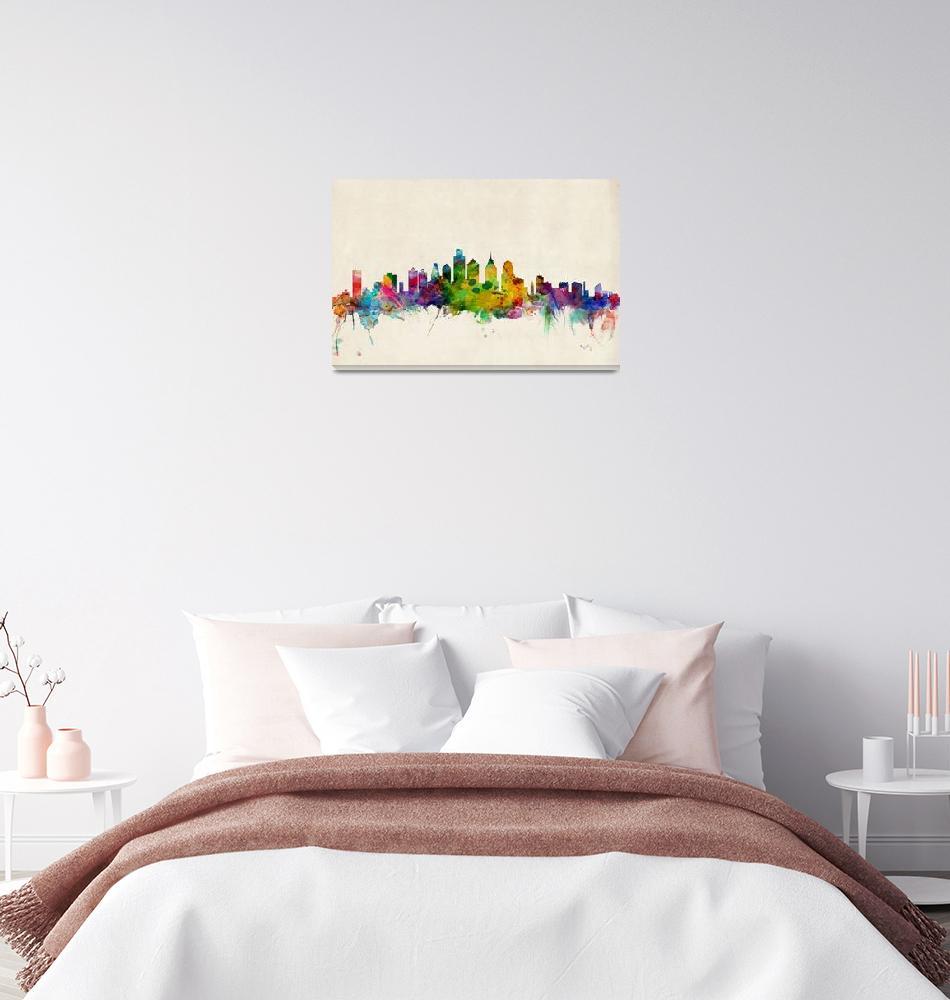 """Philadelphia Pennsylvania Skyline""  (2013) by ModernArtPrints"