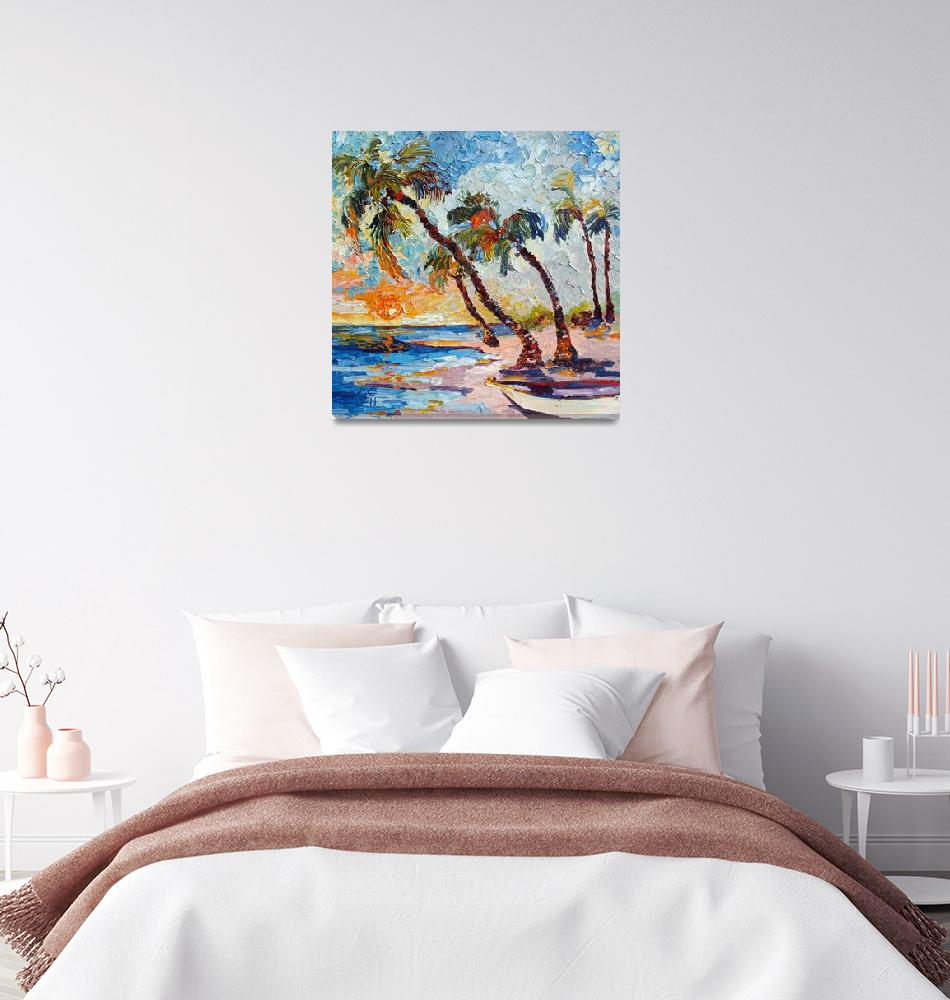 """""""Do Not Disturb - Impressionist Oil Painting Island""""  (2011) by GinetteCallaway"""