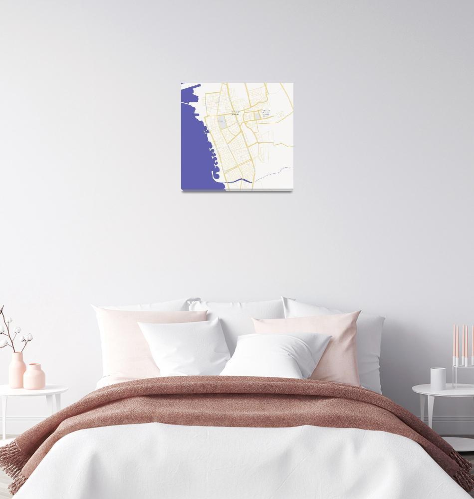 """Minimalist Modern Map of Tartus, Syria 2""  by motionage"