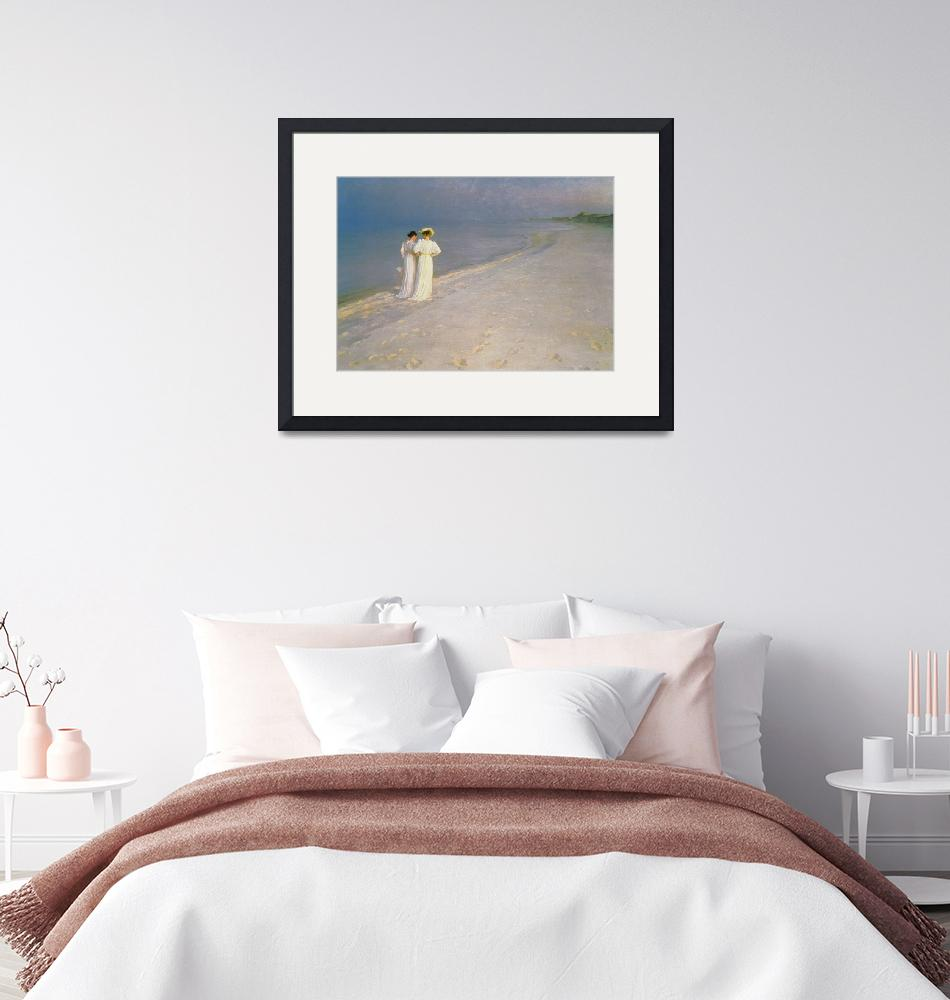 """""""Summer Evening on the Skagen Southern Beach with A""""  by fineartmasters"""