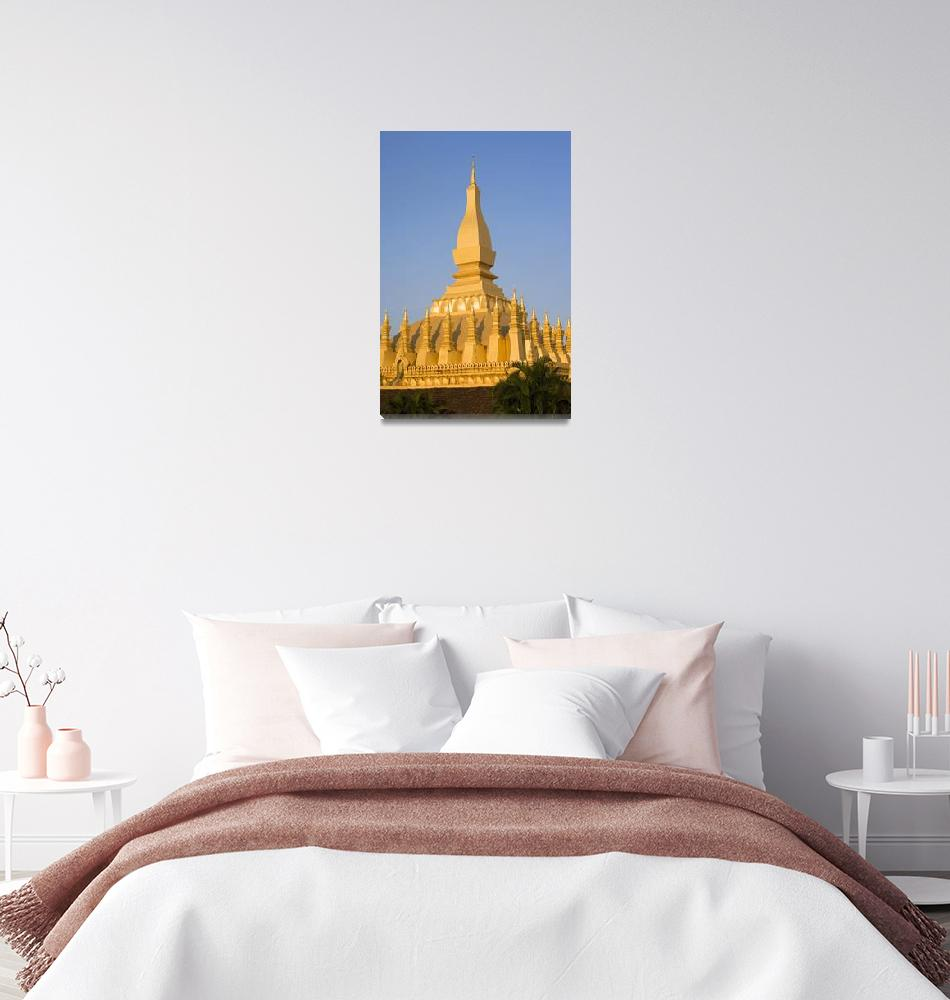 """That Luang,Or Grand Stupa, Vientiane, Laos""  by DesignPics"