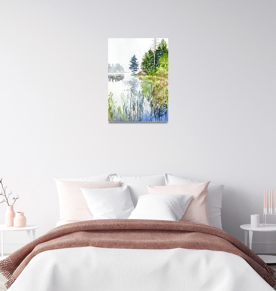 """Barnum Pond"" by jcparkerfineart"