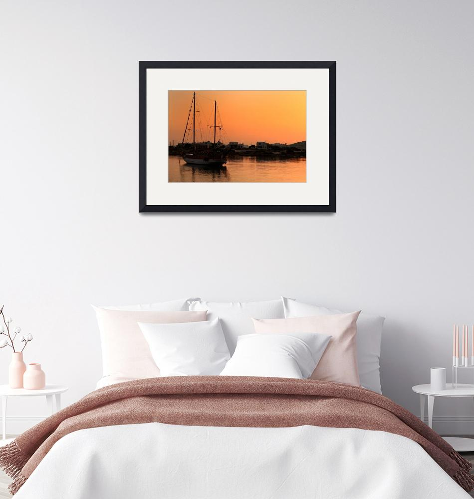 """""""Boat at Sunrise""""  (2009) by JessicaShellPhotography"""