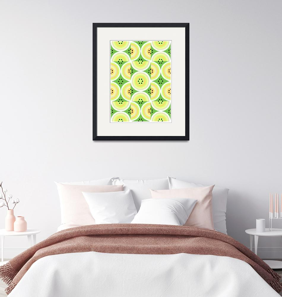 """""""Circles Olive Yellow large""""  (2008) by LeslieTillmann"""