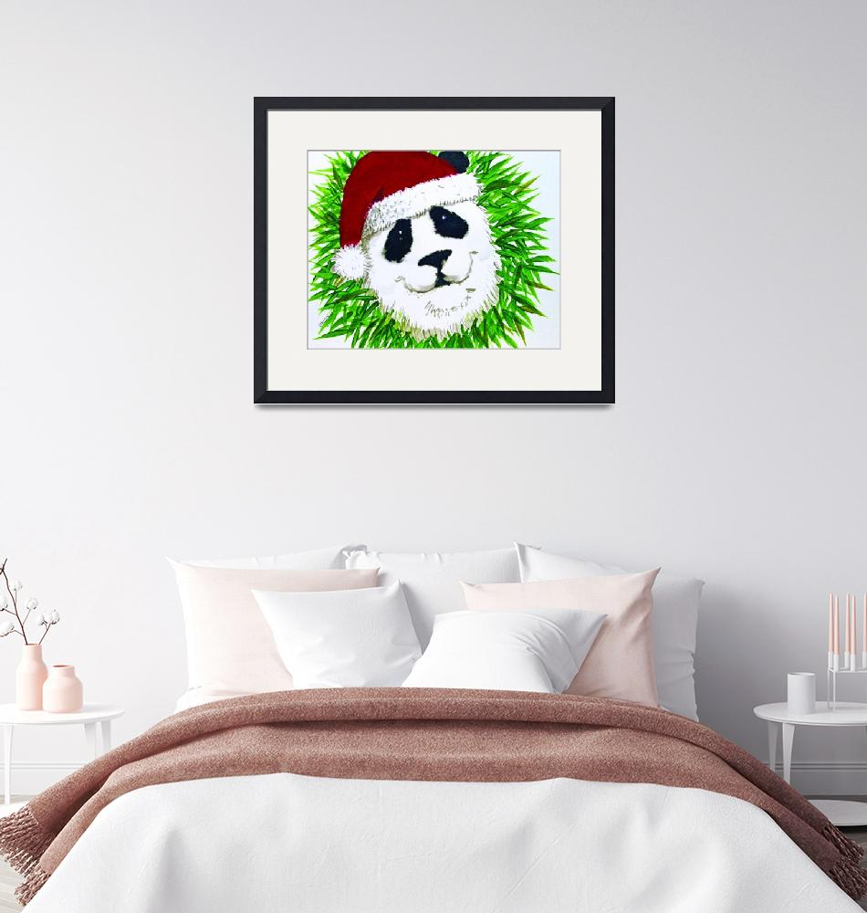 """panda_clause_wreath""  (2010) by gbensonart"