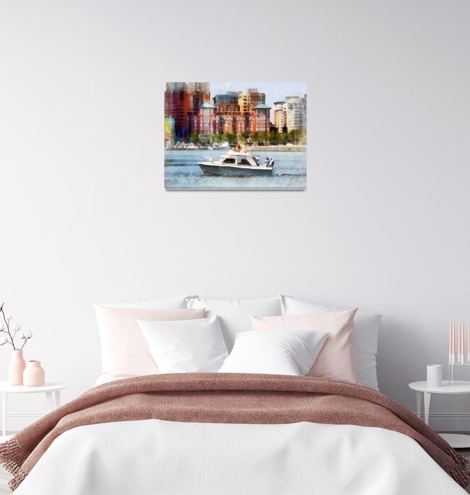 """Cabin Cruiser by Baltimore Skyline""  (2012) by susansartgallery"