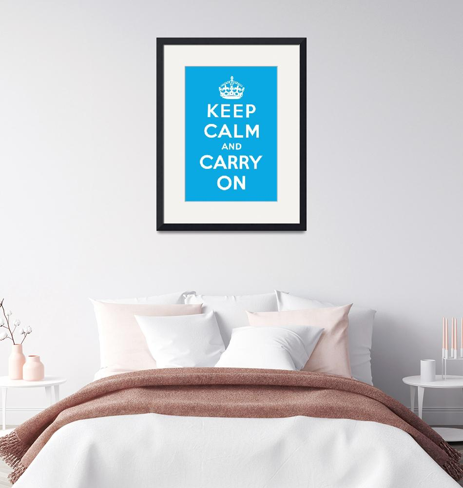 """Blue Keep Calm And Carry On 5""  by oldies"