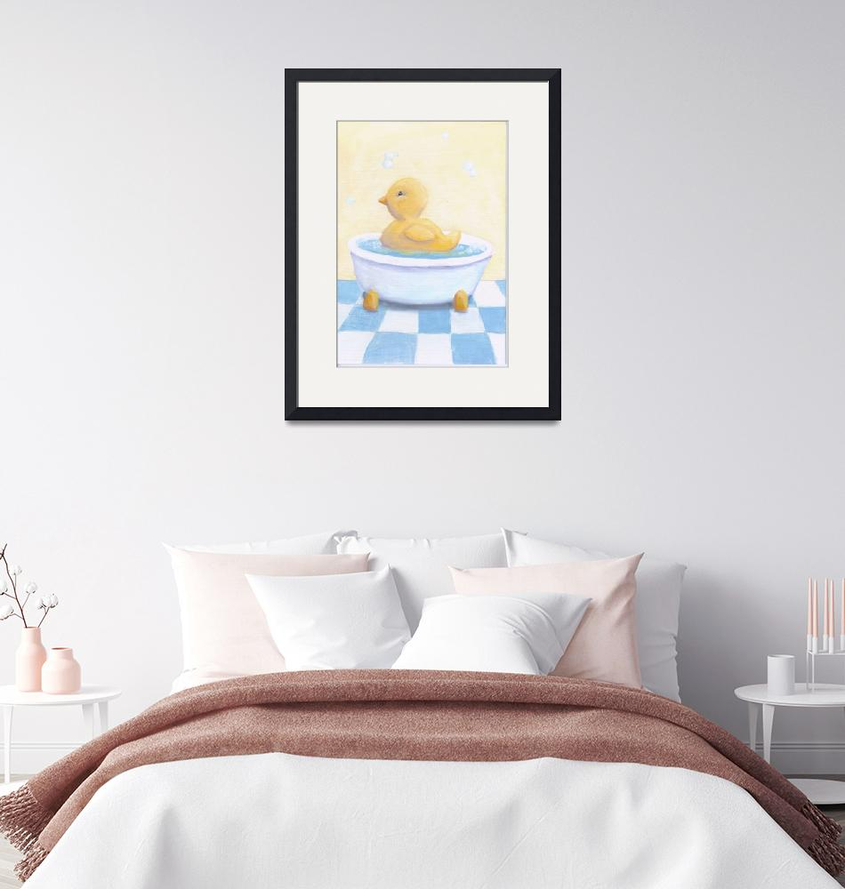 """""""Ducky in the tub""""  (2012) by Artpixie"""