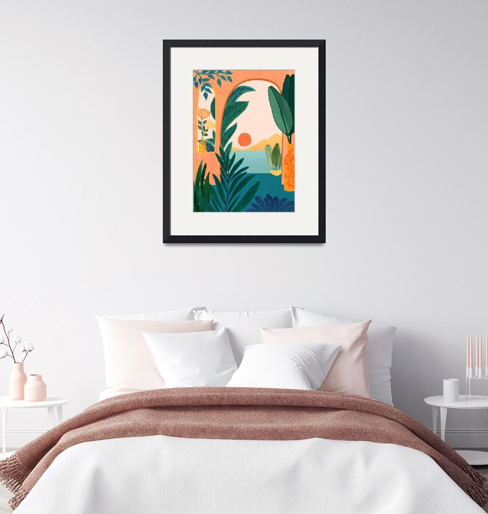 """Tropical Evening""  (2020) by moderntropical"