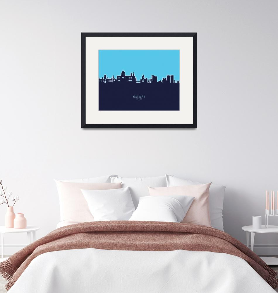 """Galway Ireland Skyline""  (2020) by ModernArtPrints"