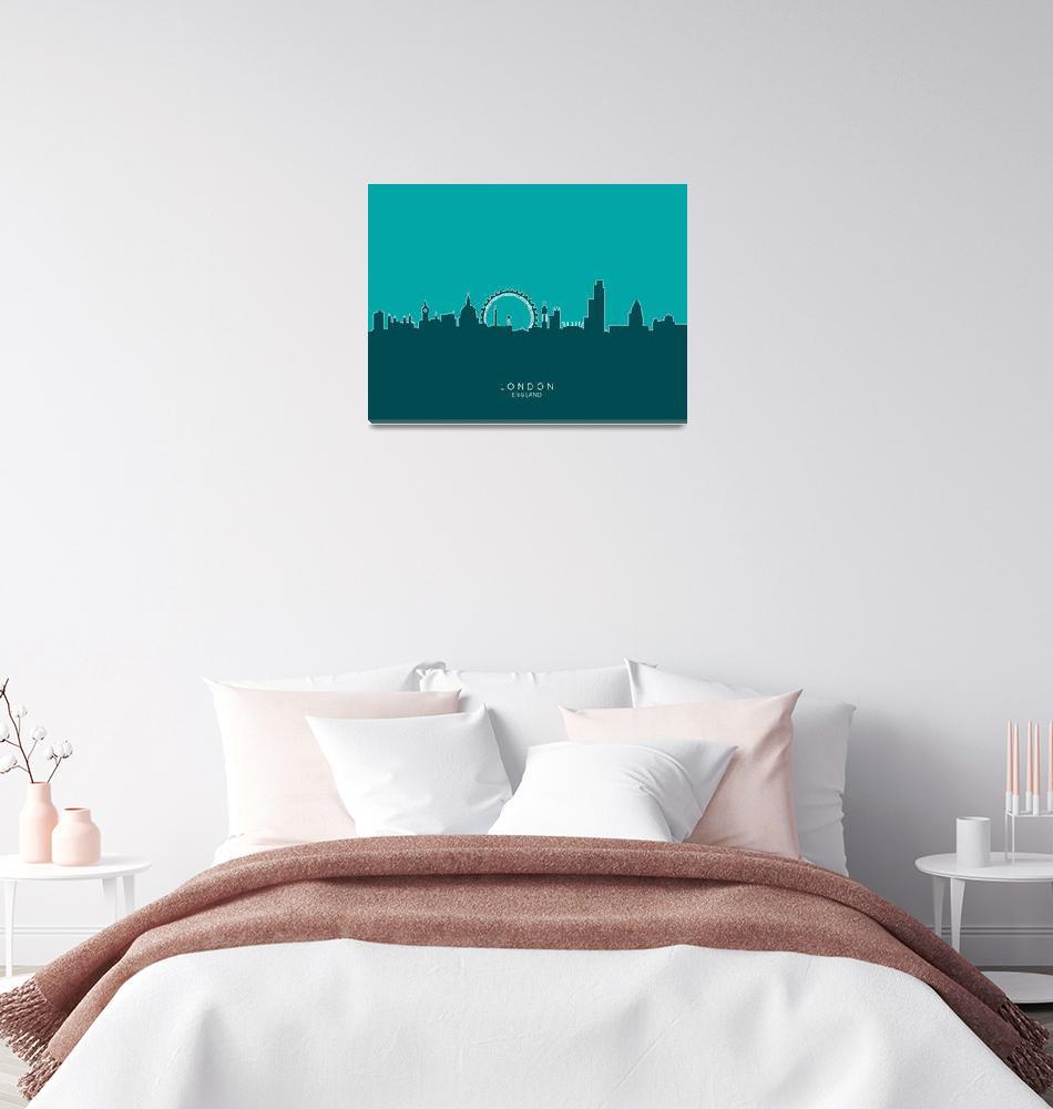 """London England Skyline""  (2014) by ModernArtPrints"