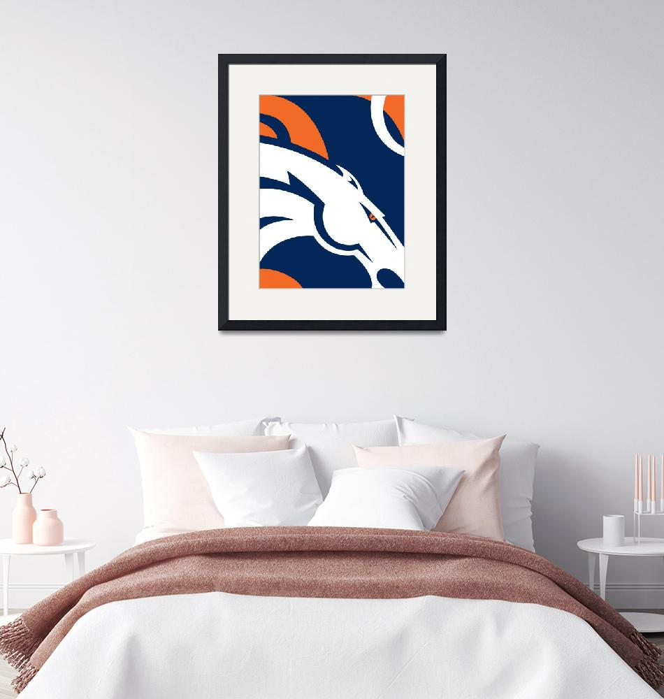 """Denver Broncos Football""  (2016) by RubinoFineArt"