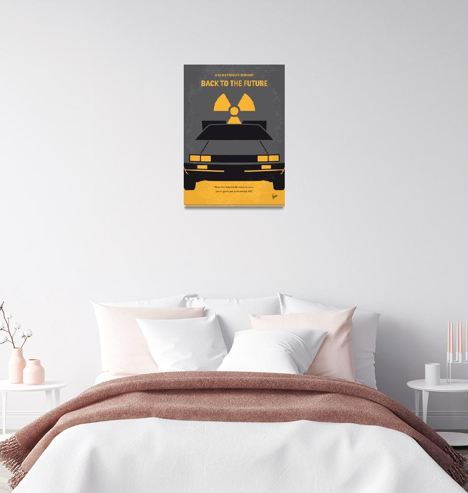 """""""No183 My Back to the Future minimal movie poster""""  by Chungkong"""