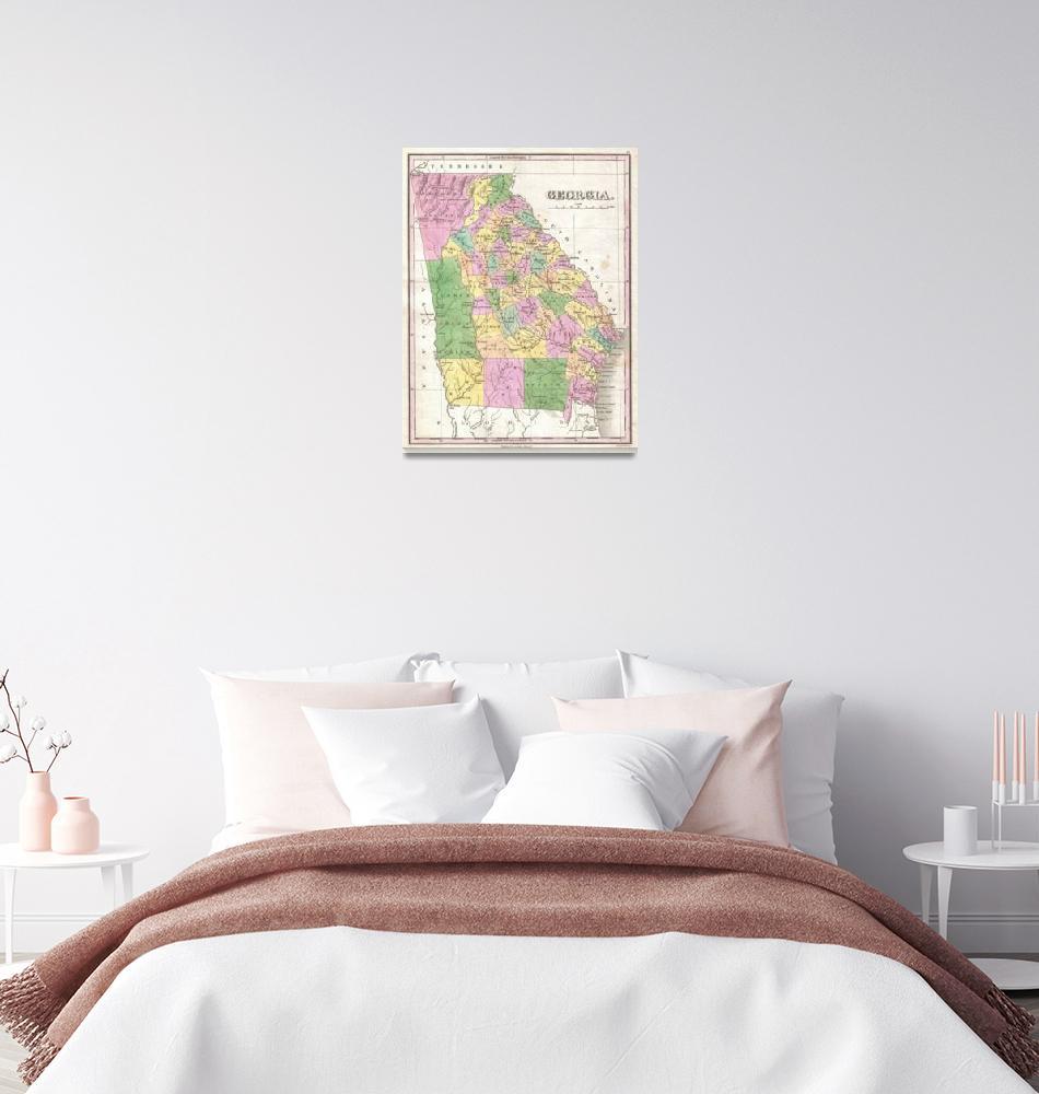 """Vintage Map of Georgia (1827)""  by Alleycatshirts"