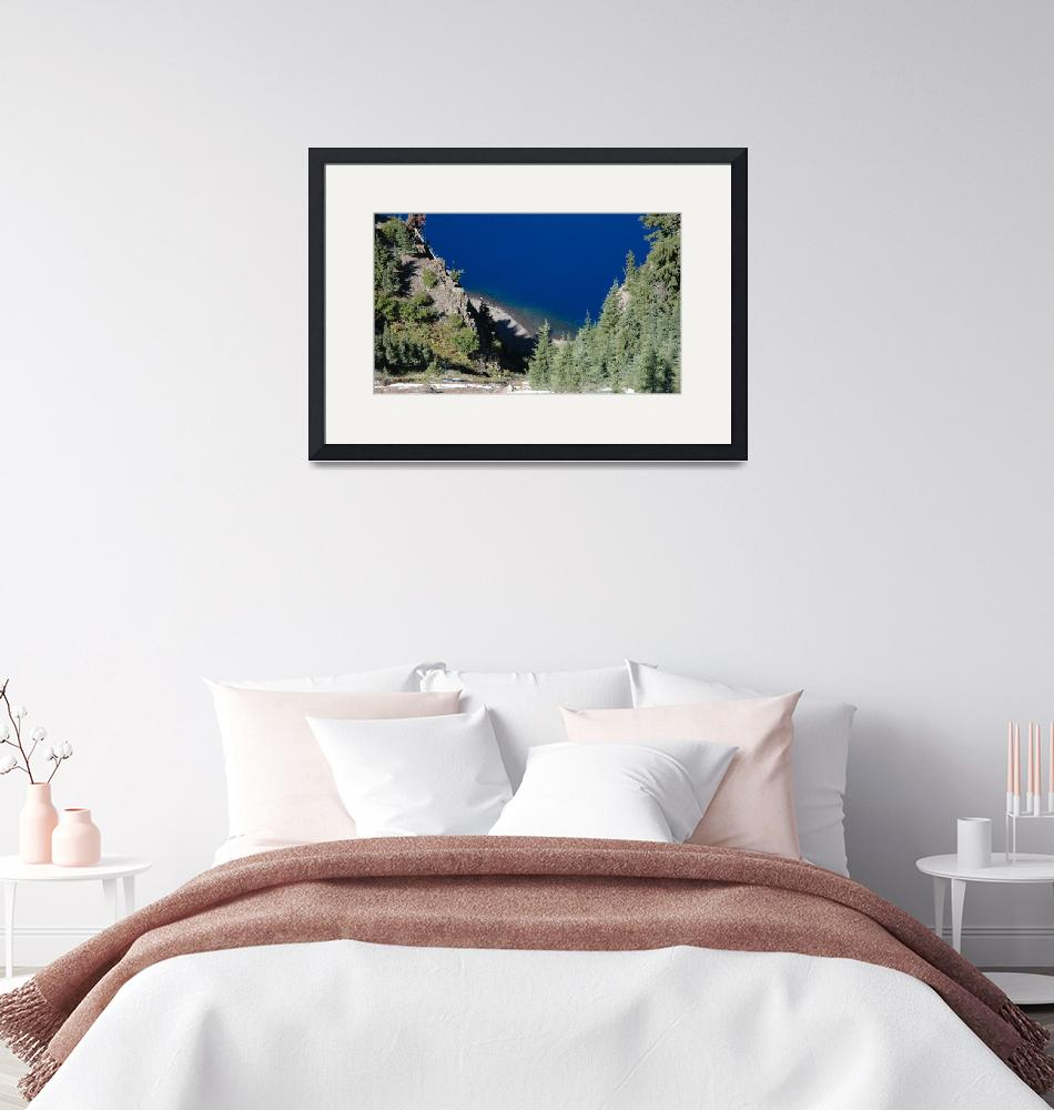 """""""Crater Lake 2005""""  by jeannequiltslinden"""