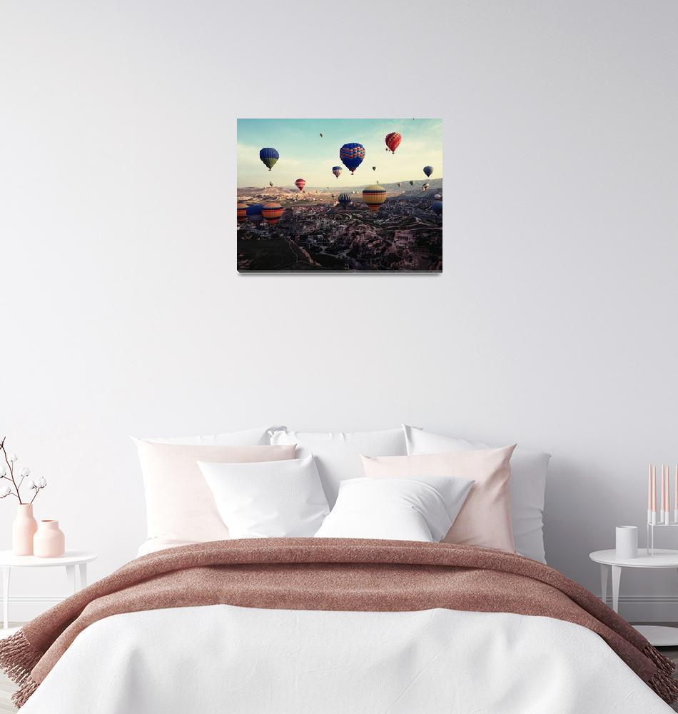 """""""Cappadocia Turkey Hot Air Balloons""""  (2015) by MarilynsArt"""