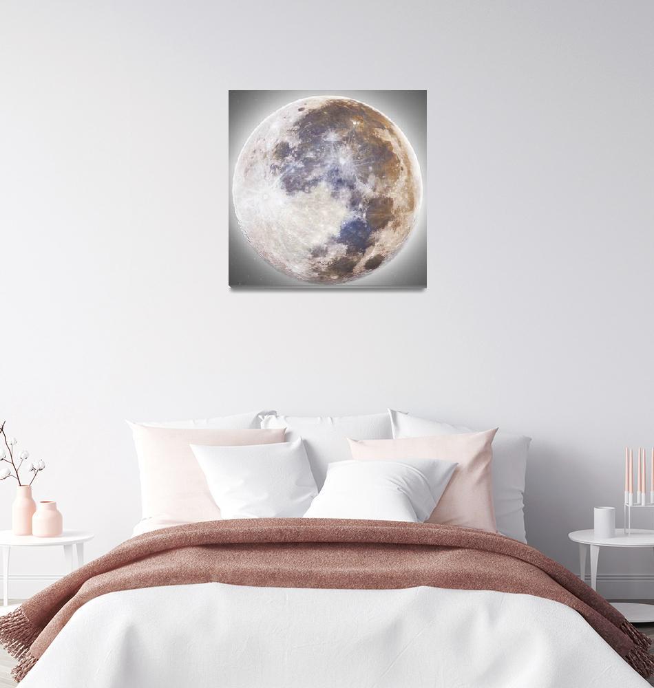 """Full Moon mosaic (67,800 photos, 176 Mega-pixels)""  by Astronophilos"