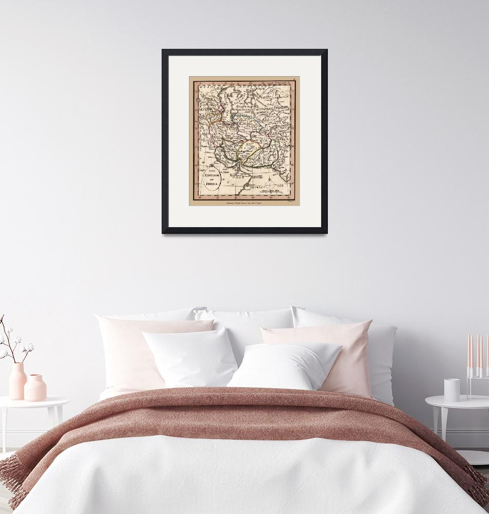 """Persia Old Antique Map 1798""  (2020) by WilshireImages"
