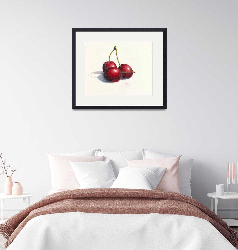 """10x8 Still life Cherries""  (2014) by patriciaanndickun"