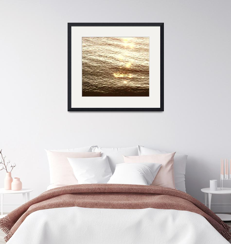 """""""PV Water Sunset Sepia""""  (2009) by LeslieTillmann"""
