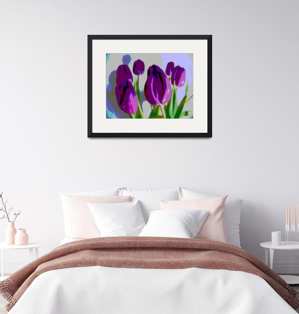 """Violet Tulips II"" (2014) by TheNorthernTerritory"