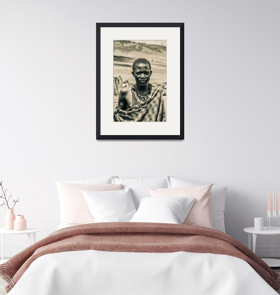 """""""4300 Portrait of Young Maasai Tanzania East Africa""""  by amynnasser"""