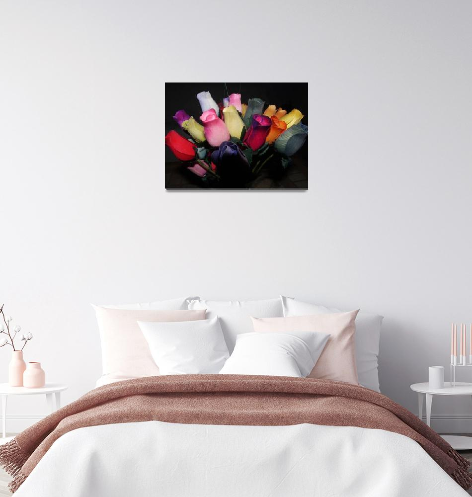 """""""Multi Coloured Roses""""  (2009) by indiannes"""