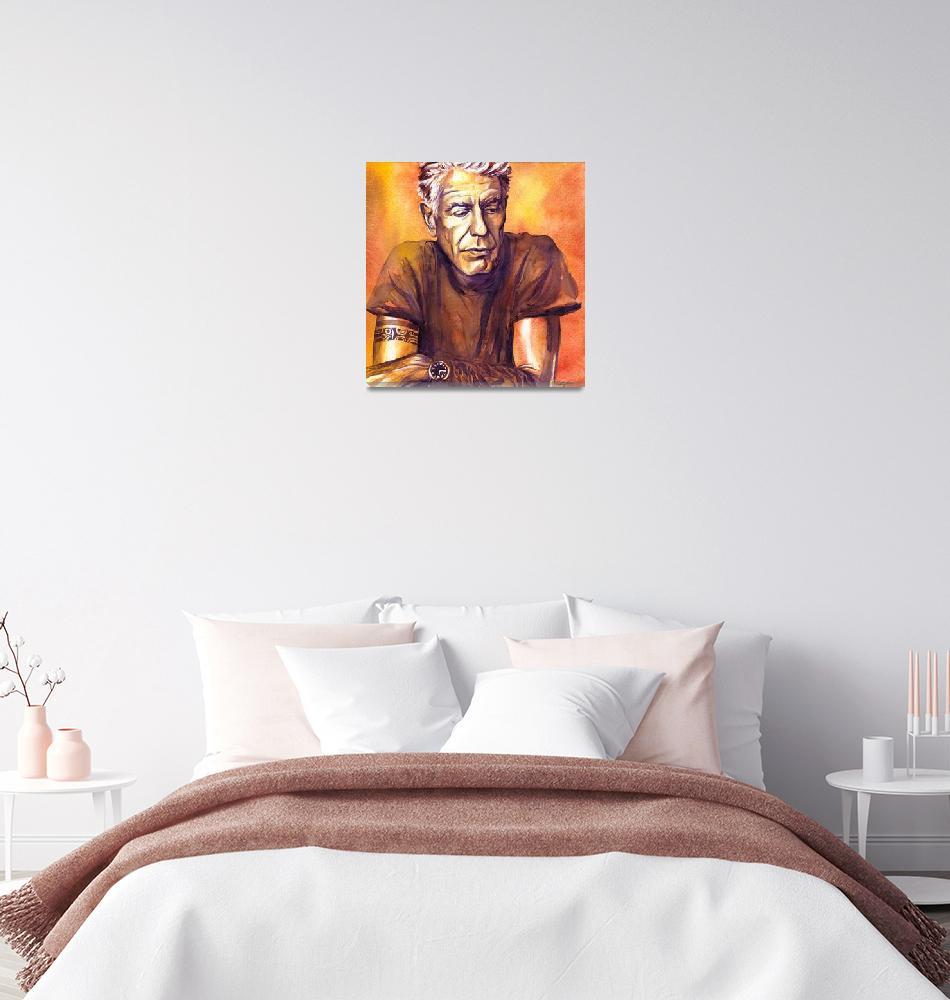 """Orange Anthony Bourdain""  (2018) by KellyEddington"
