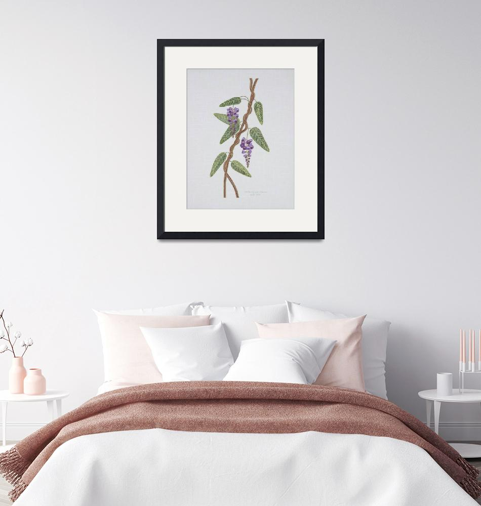 """""""Native Lilac, Hardenbergia violacea 1998""""  (1998) by WendySysouphat"""