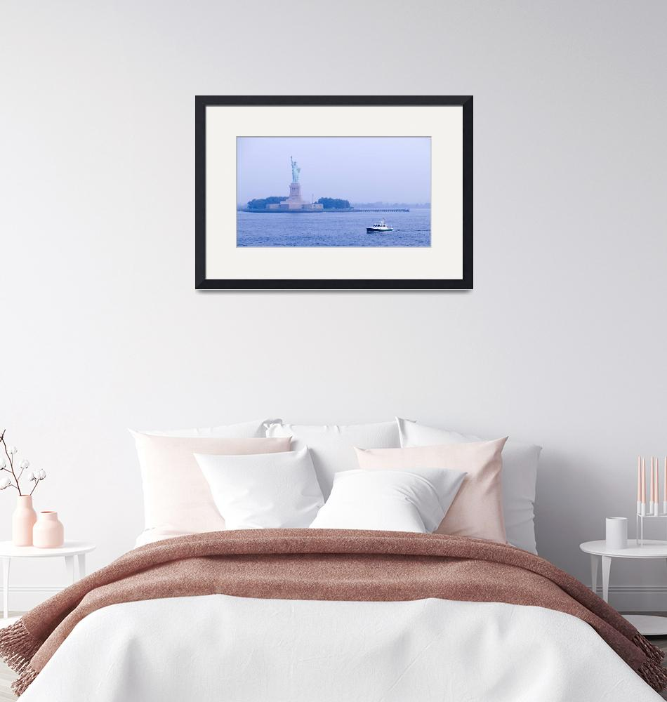 """""""Statue of Liberty & New York Harbor""""  (2003) by fineartphoto"""