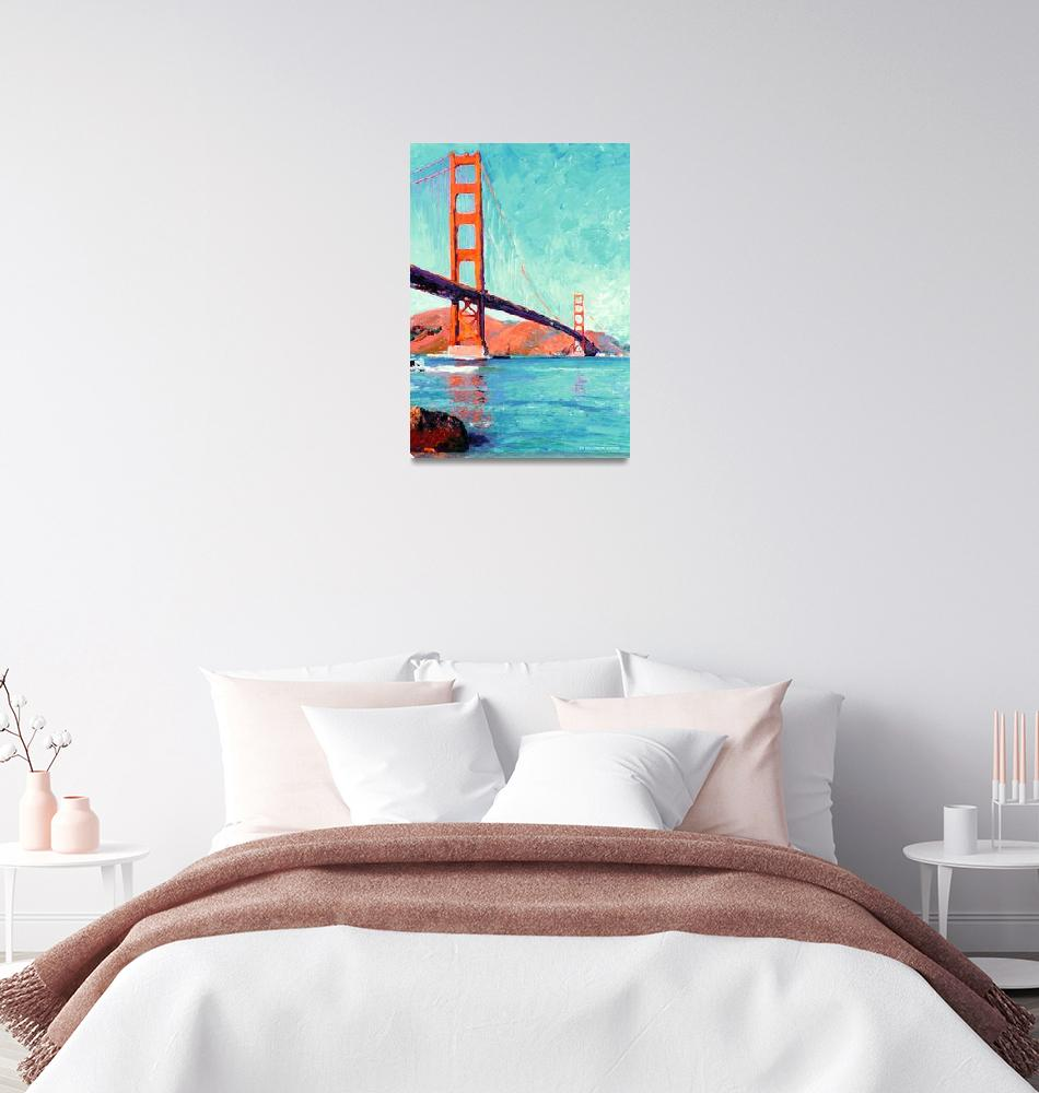 """Golden Gate Bridge San Francisco by Riccoboni""  (2006) by RDRiccoboni"