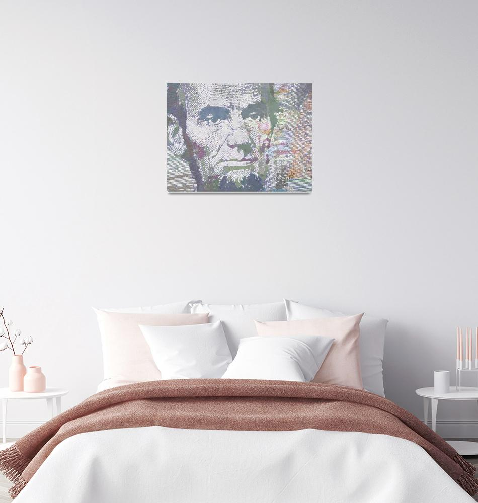 """""""Lincoln Reimagined Vertical""""  (2017) by RubinoFineArt"""