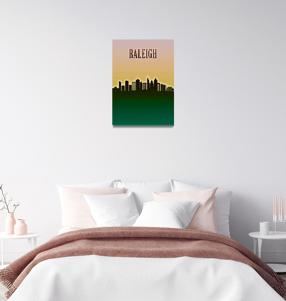 """""""Raleigh Skyline""""  by Towseef"""
