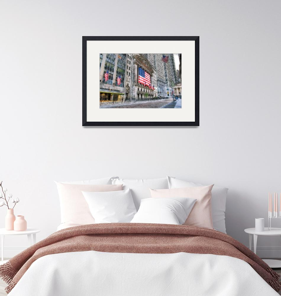 """""""Stock Exchange Flags Wall Street""""  by mgarbowski"""