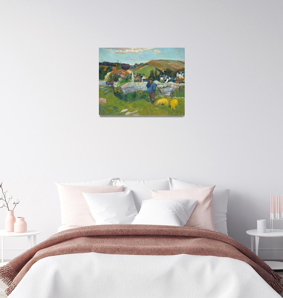 """""""The Swineherd by Paul Gauguin""""  by FineArtClassics"""