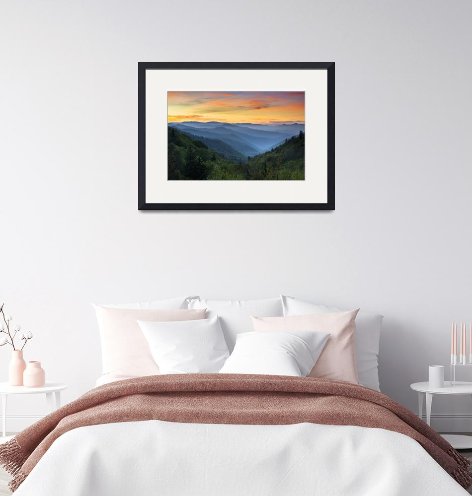 """Smoky Mountains Sunrise - Great Smoky Mountains Na""  (2012) by DAPhoto"