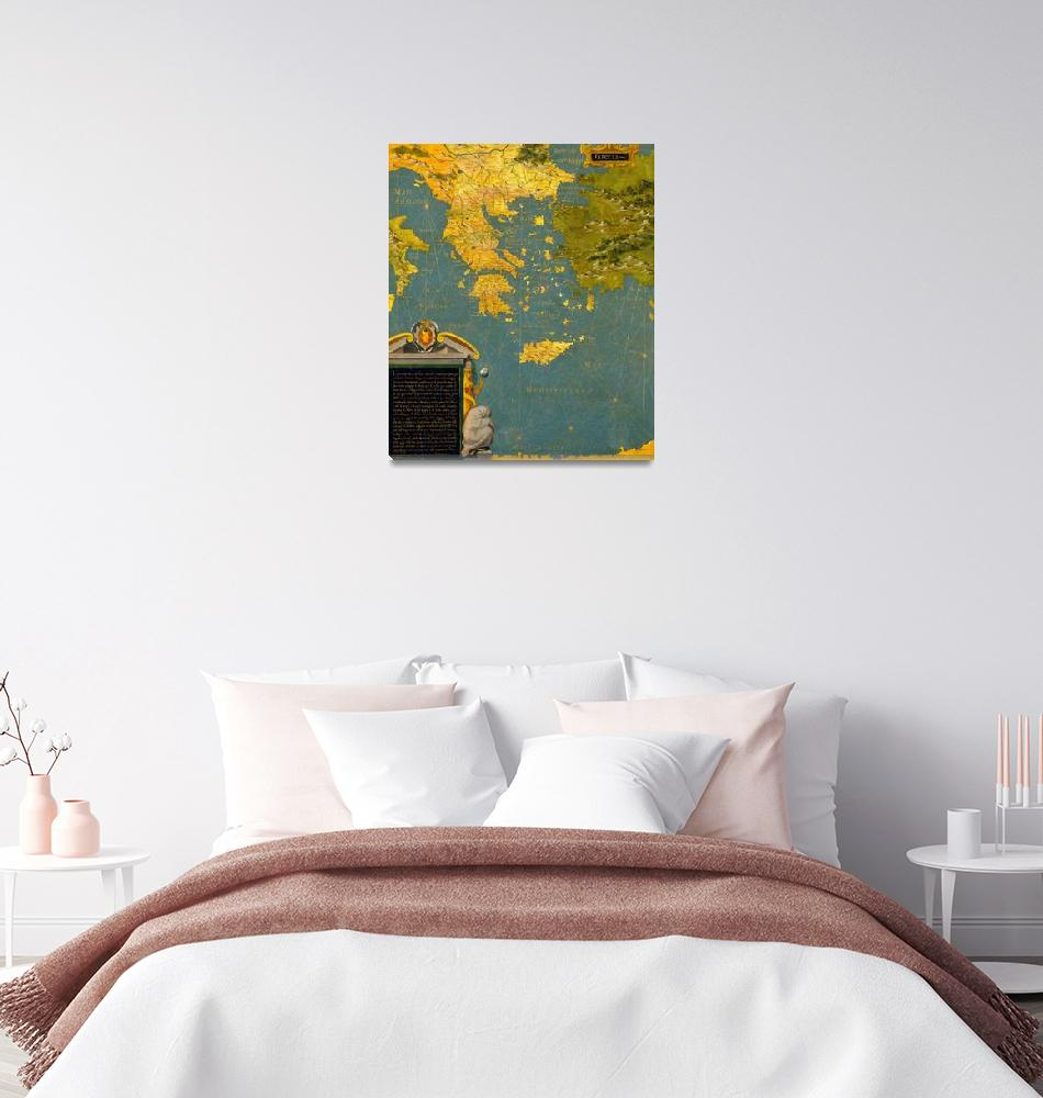 """Stefano Bonsignori~Hellenic peninsula Greece, Alba""  by Old_master"