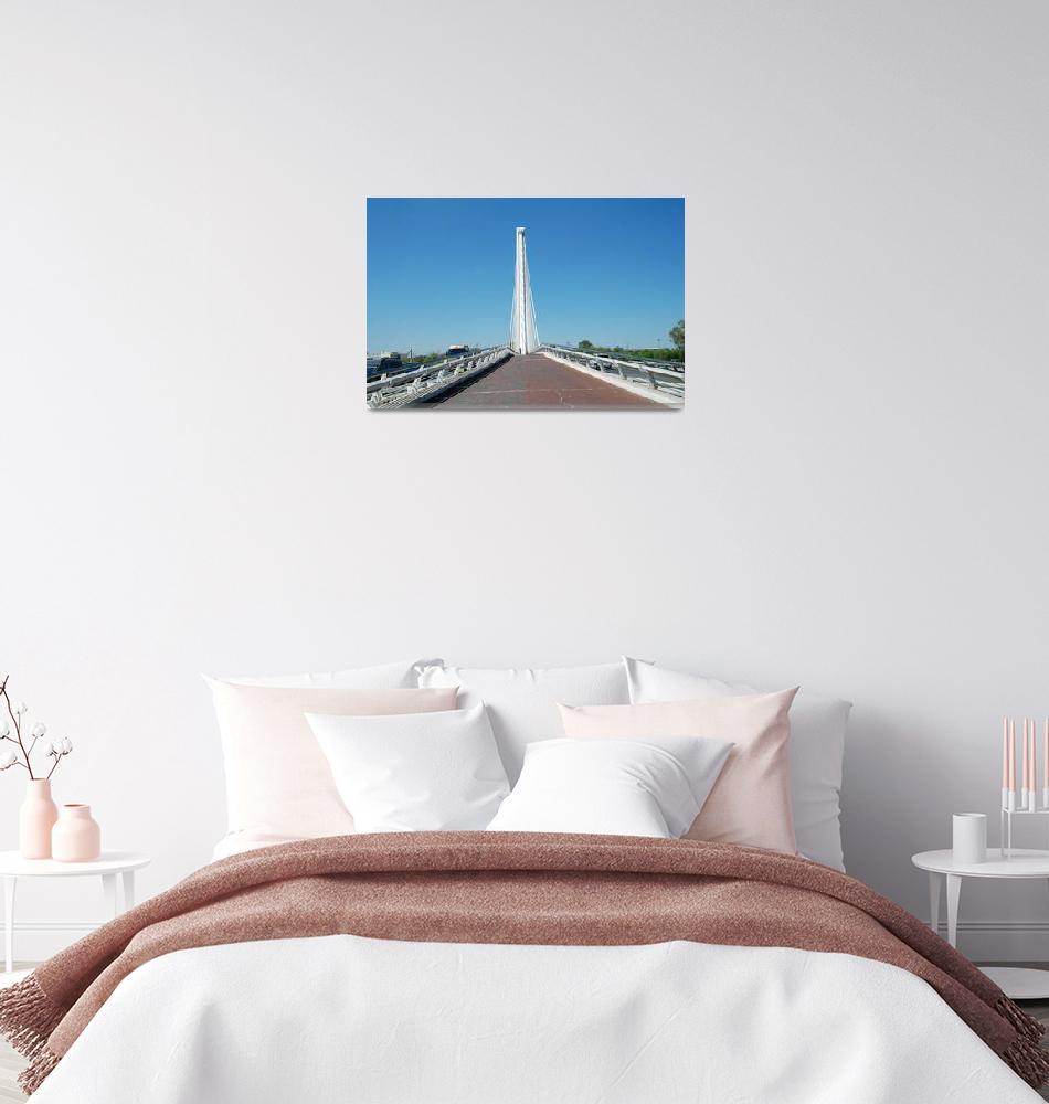 """""""Puente del Alamillo, Seville""""  (2019) by DavidFowler"""