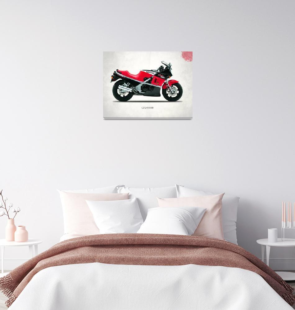"""Kawasaki Ninja 600R""  by mark-rogan"