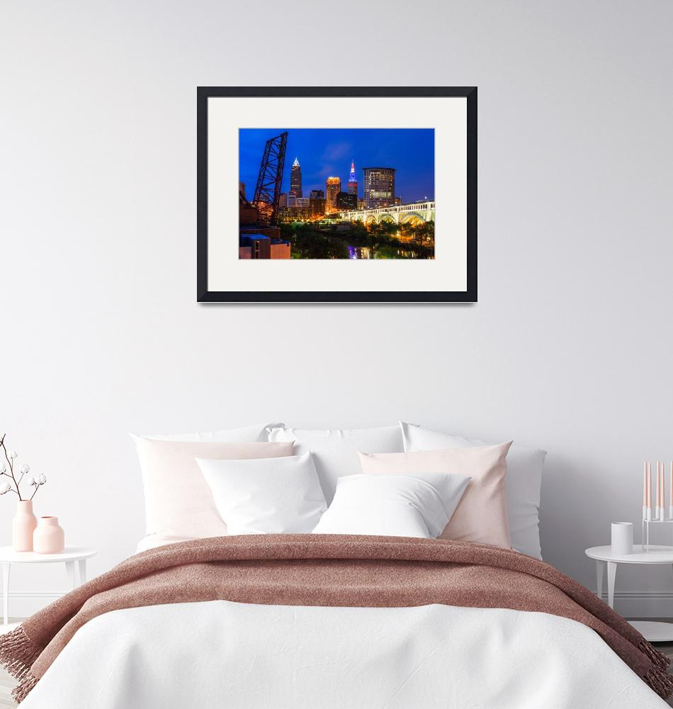 """""""Cleveland Skyline from the Flats"""" by cyorkphoto"""